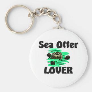 Amante de la nutria de mar llaveros personalizados