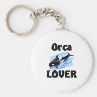 Amante de la orca llavero redondo tipo pin