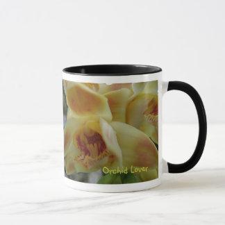 Amante de la orquídea taza