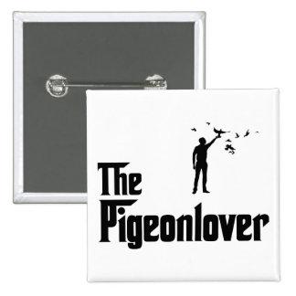 Amante de la paloma pin cuadrado
