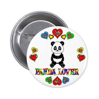 Amante de la panda pins