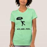 Amante de la pizza camisetas