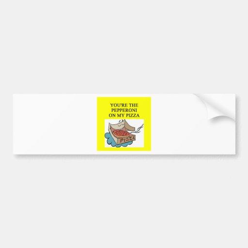 amante de la pizza de salchichones pegatina de parachoque