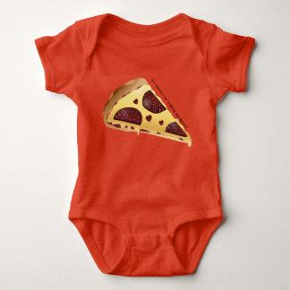 Amante de la pizza del mono del bebé del día de playeras