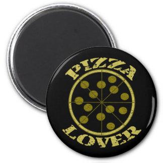 Amante de la pizza imán redondo 5 cm