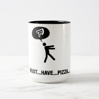 Amante de la pizza taza de dos tonos