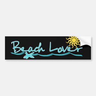 Amante de la playa pegatina de parachoque