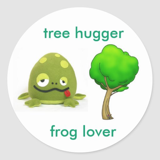 Amante de la rana de Hugger del árbol Pegatina Redonda