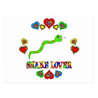 Amante de la serpiente tarjetas postales