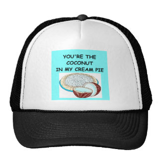 amante de la tarta de crema del coco gorras