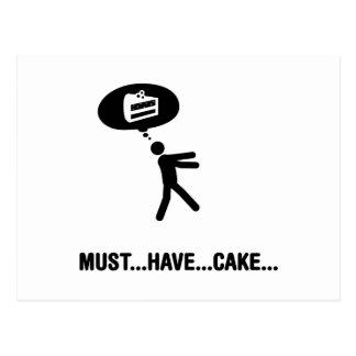 Amante de la torta postales