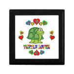 Amante de la tortuga caja de regalo