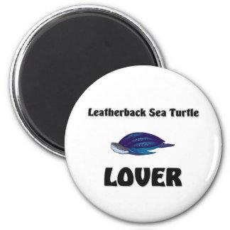Amante de la tortuga de mar del Leatherback Imán De Frigorífico