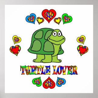 Amante de la tortuga posters