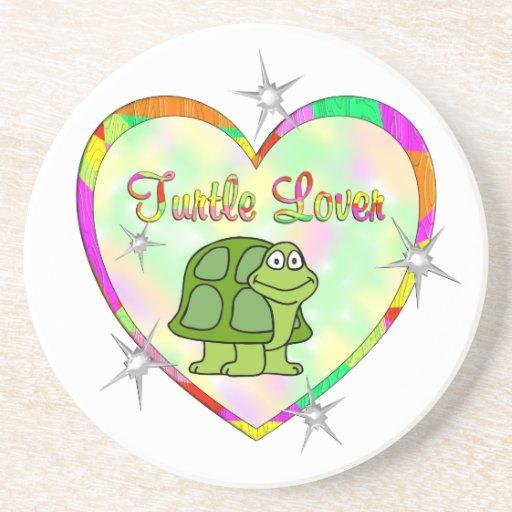 Amante de la tortuga posavasos diseño