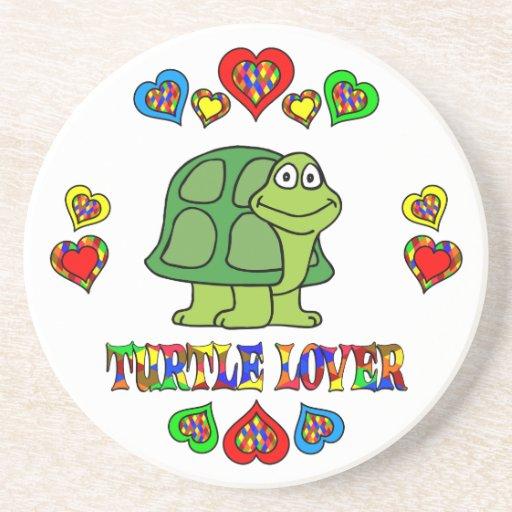 Amante de la tortuga posavasos personalizados