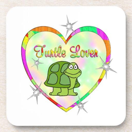 Amante de la tortuga posavaso
