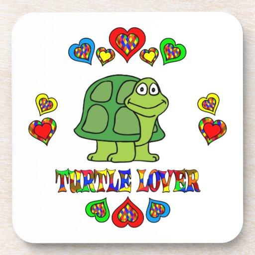 Amante de la tortuga posavasos