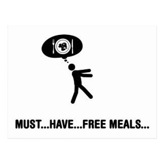 Amante de las comidas libres postales