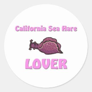 Amante de las liebres de mar de California Pegatina Redonda