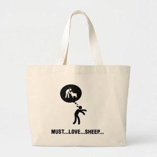 Amante de las ovejas bolsa de mano