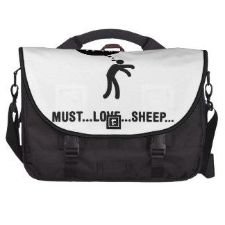 Amante de las ovejas bolsas de portátil