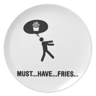 Amante de las patatas fritas platos para fiestas