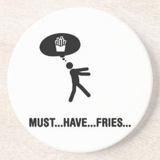 Amante de las patatas fritas posavasos diseño