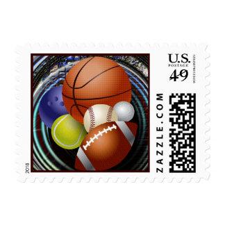Amante de los deportes sellos postales