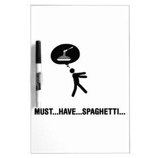 Amante de los espaguetis pizarras