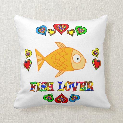 Amante de los pescados cojines