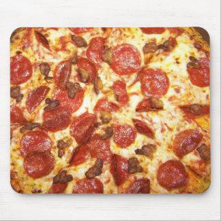 Amante de los salchichones y de la pizza de salchi alfombrilla de raton