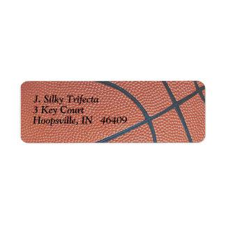 Amante de los texture_Hoops de Spirit_Basketball Etiqueta De Remitente