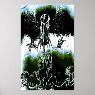Amante de madre naturaleza de la tierra póster