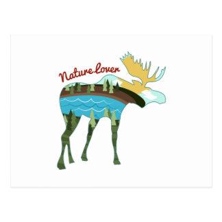 Amante de naturaleza tarjetas postales
