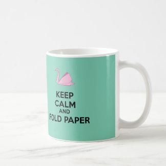 ¡Amante de Origami! Taza De Café