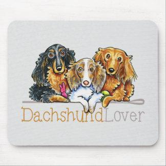 Amante de pelo largo del Dachshund Tapete De Ratones