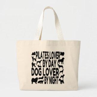 Amante de Pilates del amante del perro Bolsa Tela Grande