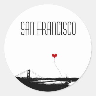 Amante de San Francisco de puente Golden Gate Pegatina Redonda