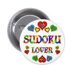 Amante de Sudoku Pin Redondo 5 Cm