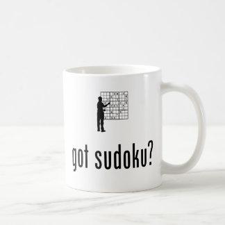 Amante de Sudoku Taza Básica Blanca
