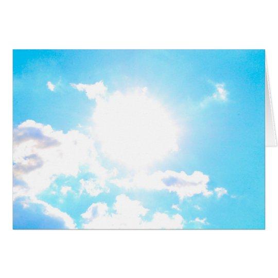 Amante de Sun del cielo azul Tarjeta De Felicitación