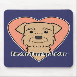 Amante de Terrier de frontera Tapetes De Raton