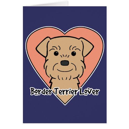 Amante de Terrier de frontera Tarjeta