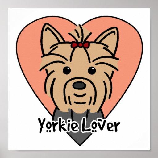 Amante de Yorkie Posters