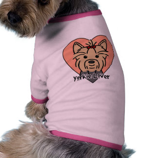 Amante de Yorkie Camisa De Mascota
