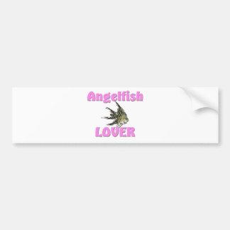 Amante del Angelfish Pegatina De Parachoque