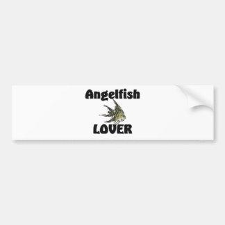 Amante del Angelfish Etiqueta De Parachoque