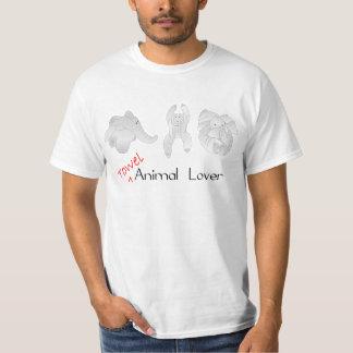 Amante del animal de la toalla camisas