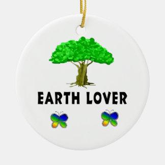 Amante del árbol de la tierra adorno